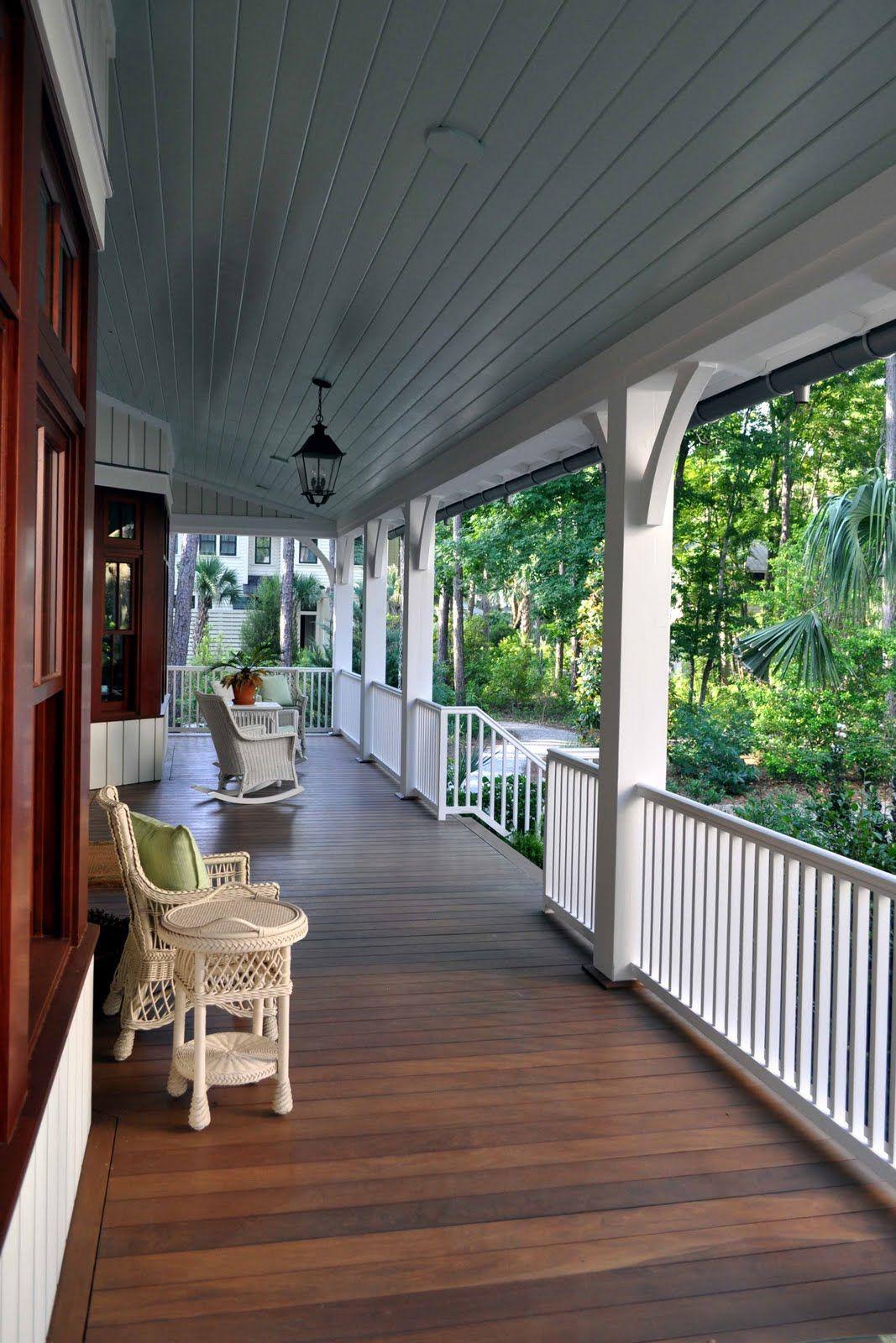 Contemporary dog trot front porch design farmhouse
