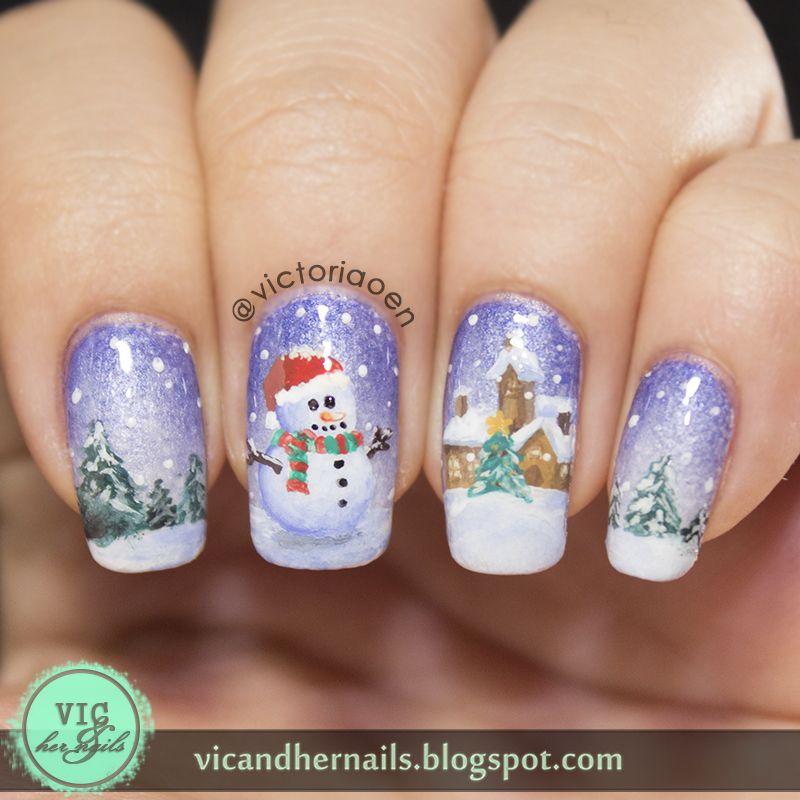 Vic and Her Nails: Digital Dozen Does Winter Wonderland - Day 4 ...