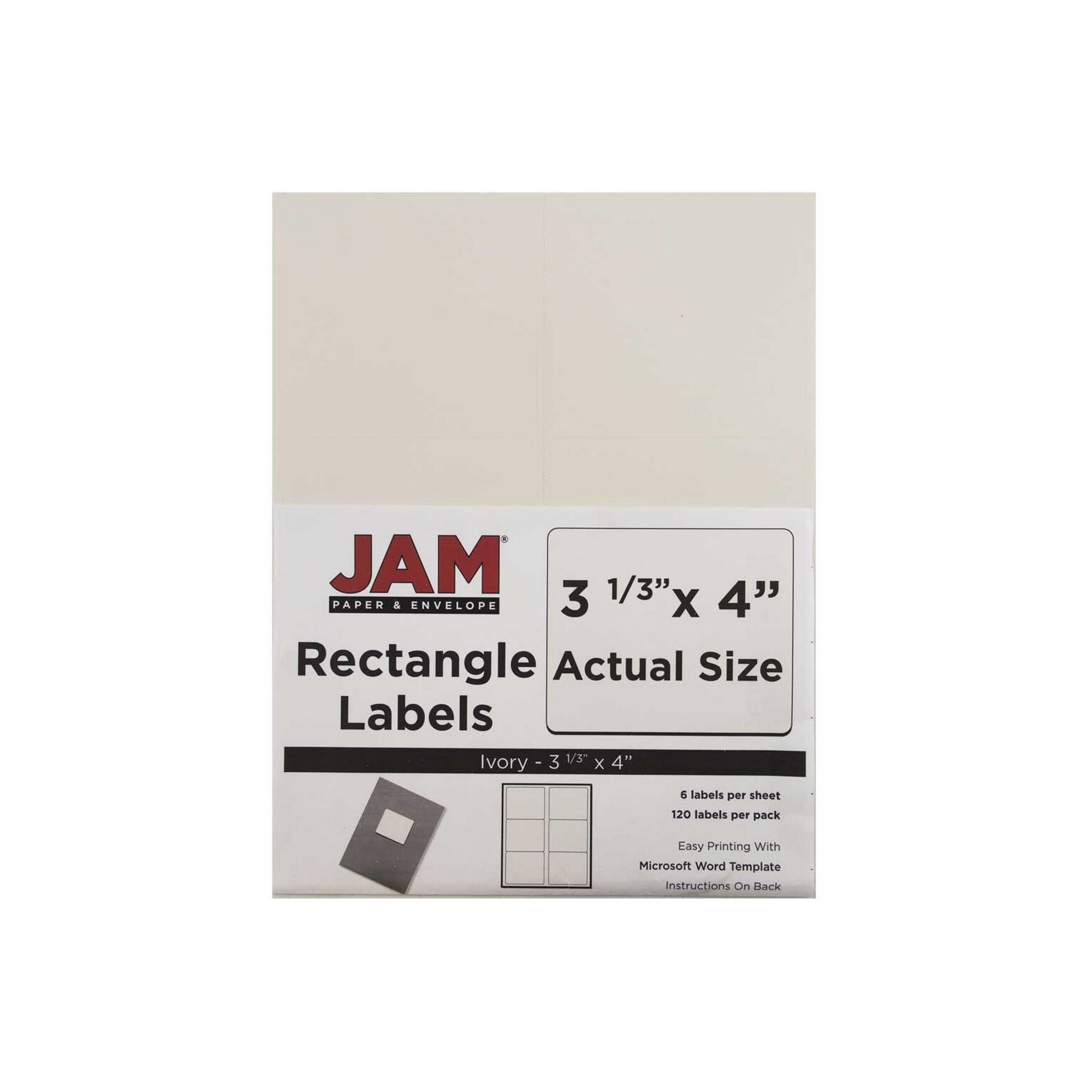 It is a picture of Vibrant Ivory Colored Mailing Labels