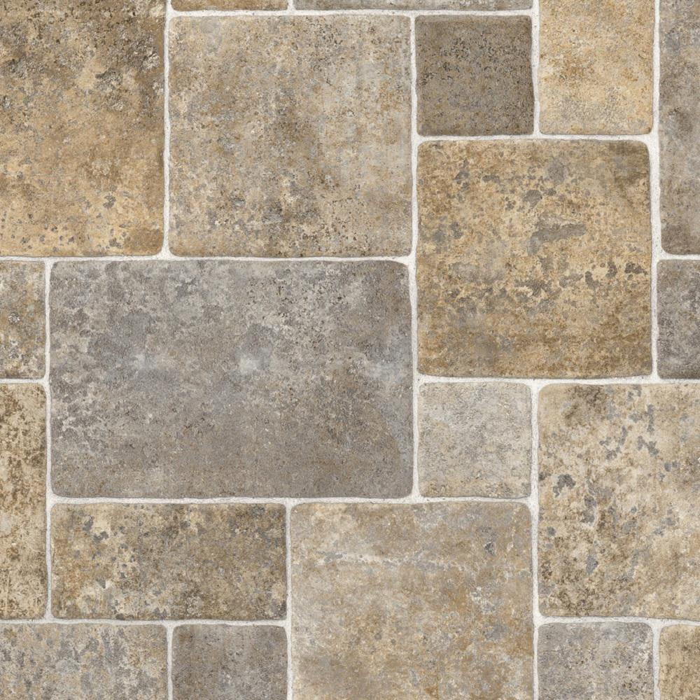 Ivc Take Home Sample Ridgecrest Stone Residential Sheet Vinyl Flooring 6 In X 9 In Grey Brown In 2020 Vinyl Flooring Kitchen Vinyl Flooring Vinyl Sheet Flooring