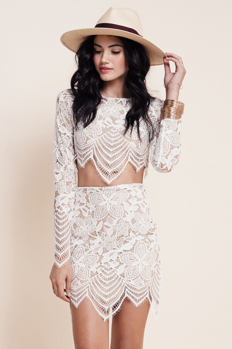 Women 2 pieces outfits for love and lemons 2 piece bodycon dress Sexy club party wear 2016 new White lace dress Casual-in Dresses from Women's Clothing & Accessories on Aliexpress.com | Alibaba Group
