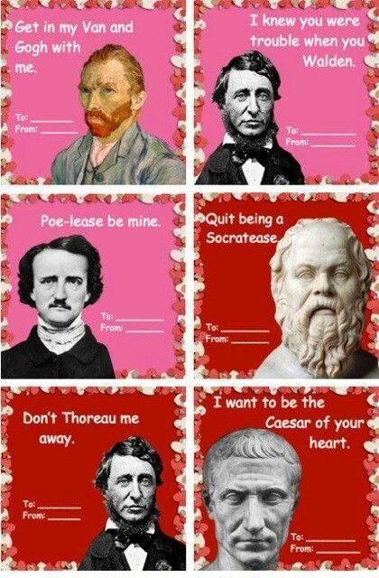 Philosophical Valentines English Teacher Valentines Teacher Valentine Cards Valentines High School