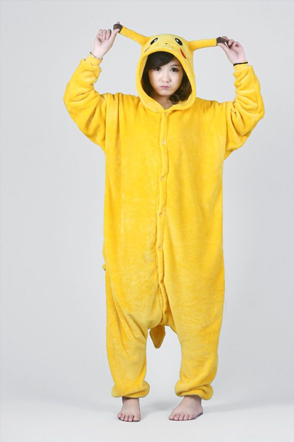 2302ed223 Pokemon Pikachu Onesies Kid Adult Unisex Kigurumi Costume Animal ...