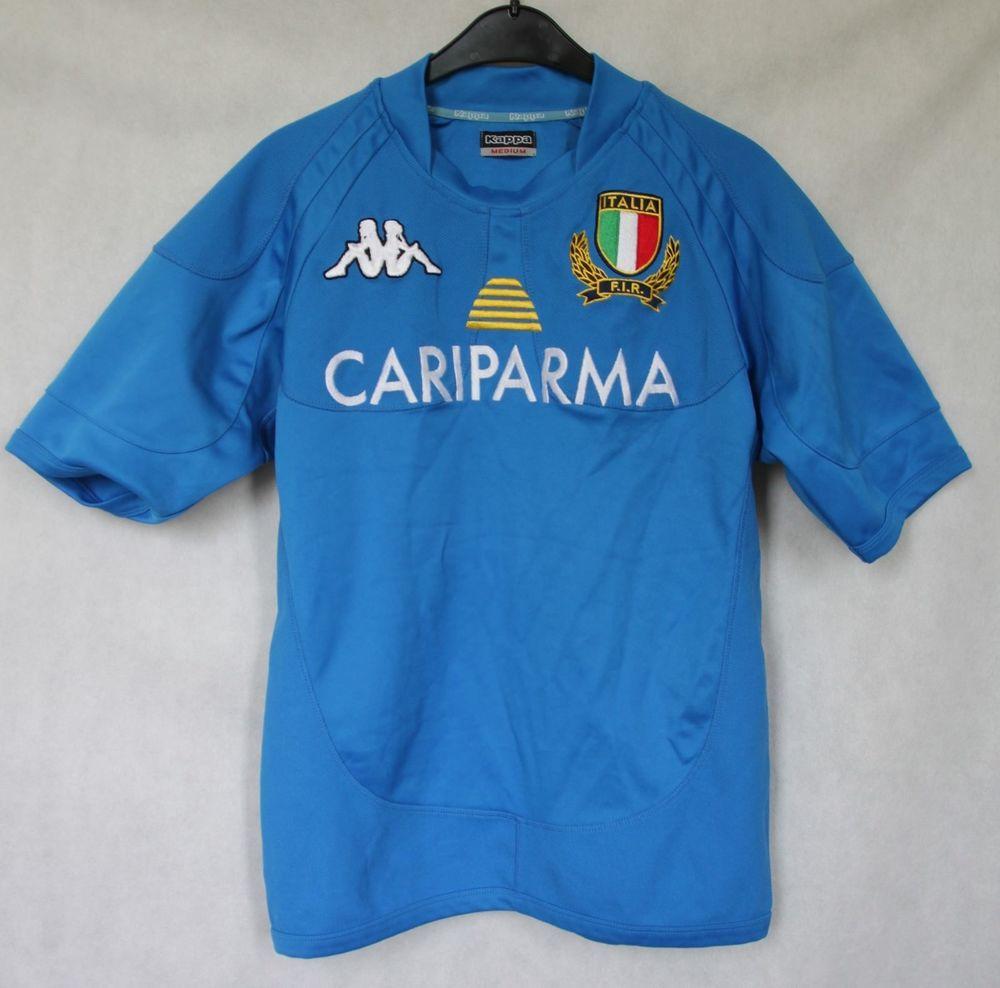 KAPPA ITALY F.I.R. RUGBY UNION 2007 2009 HOME SHIRT JERSEY SIZE MEDIUM   Kappa  ITALY 9f4faf28c