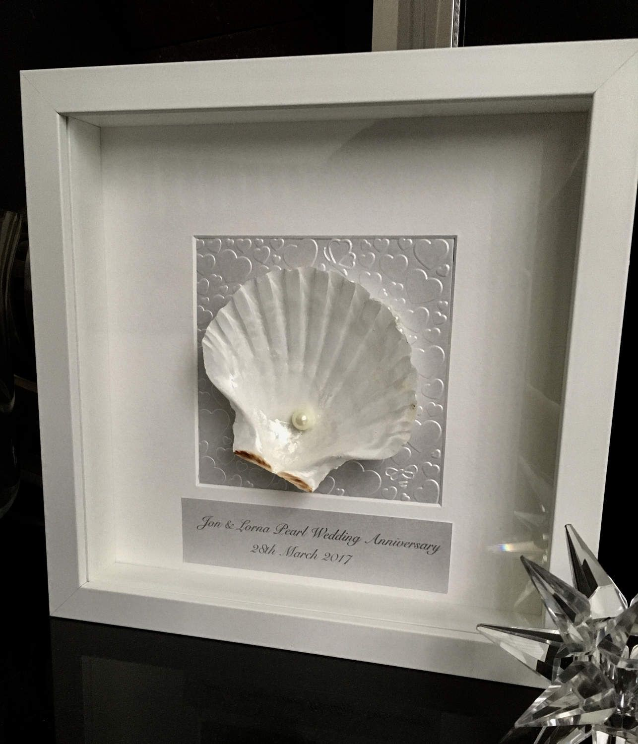 Parents 30th Wedding Anniversary Gifts: 30th Wedding Anniversary Gift, Shell Art Anniversary Gift