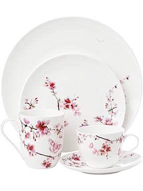 Linea Blossom dinnerware - House of Fraser \ beautiful pattern very feminine just lovely  sc 1 st  Pinterest & Linea Blossom dinnerware - House of Fraser \