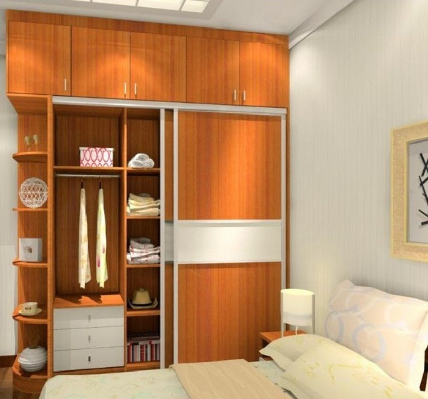 Built in wardrobe designs for small bedroom images 08 for Small cupboard designs