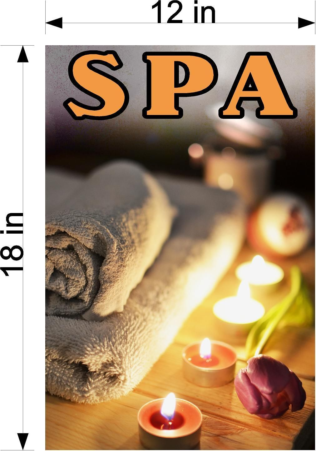 Spa 15 Vertical Wallpaper Poster Decal With Adhesive Backing