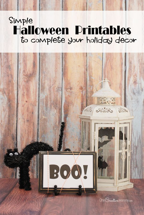 Simple Halloween Printables to Complete Your Decorating Blog - print halloween decorations