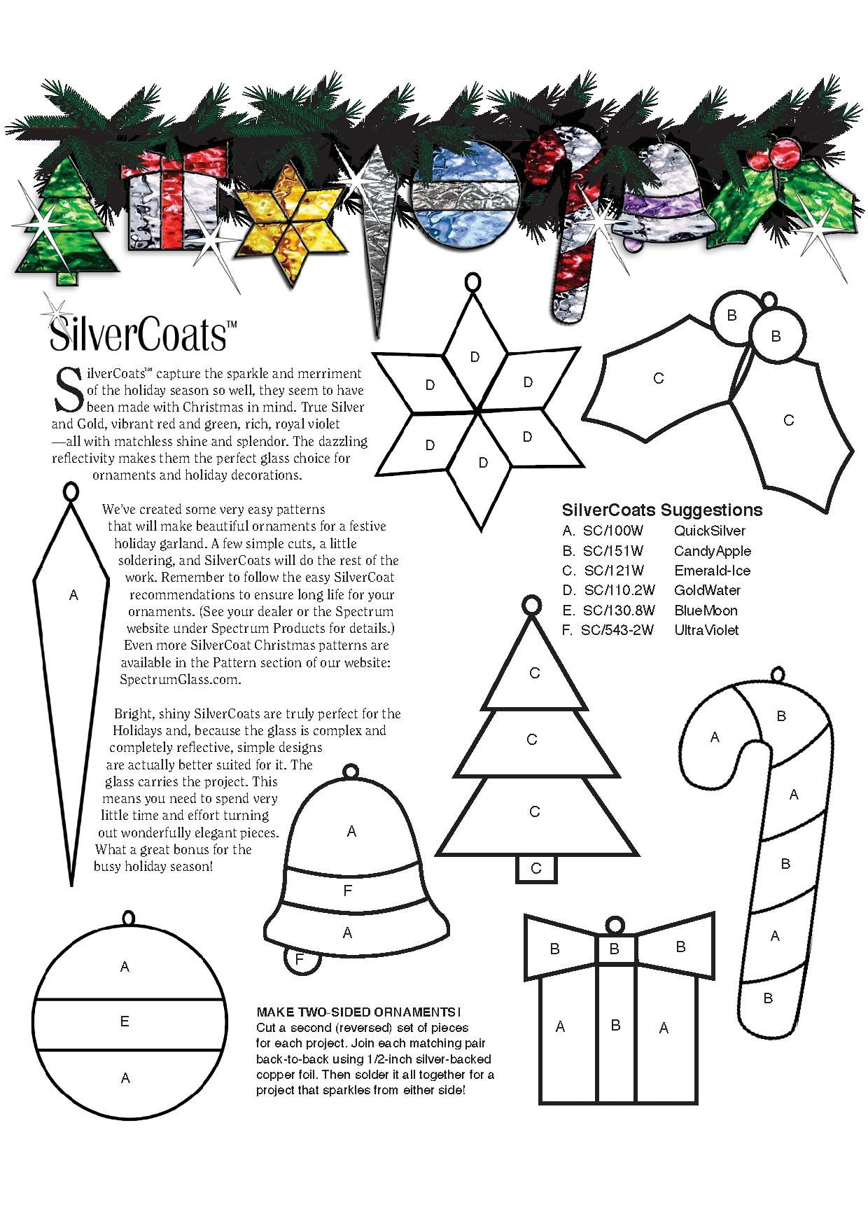 Stained Glass Christmas Ornament Patterns.Stained Glass Spectrum Pattern Stained Glass Patterns