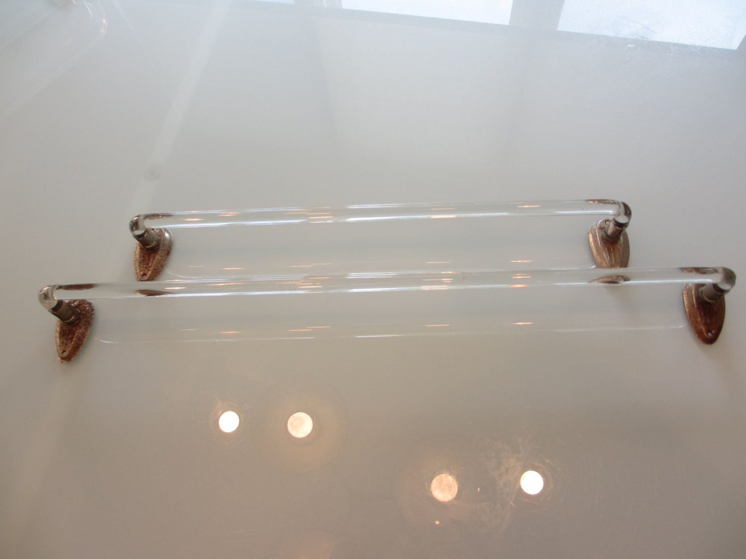 Vintage Glass Towel Rack | Vintage Home | Pinterest | Bath towel ...