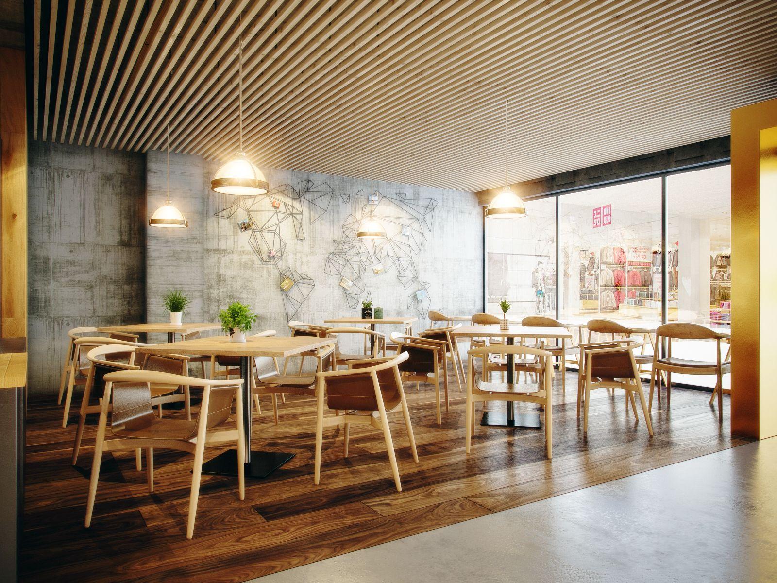 This Coffee Shop Is In Myanmar Design & Render By