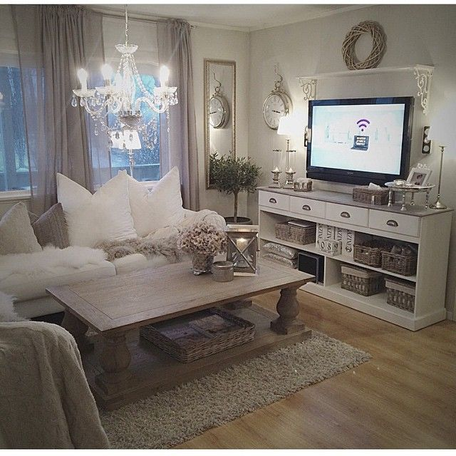 9 Shabby-Chic Living Room Ideas to Steal | French County & Shabby ...