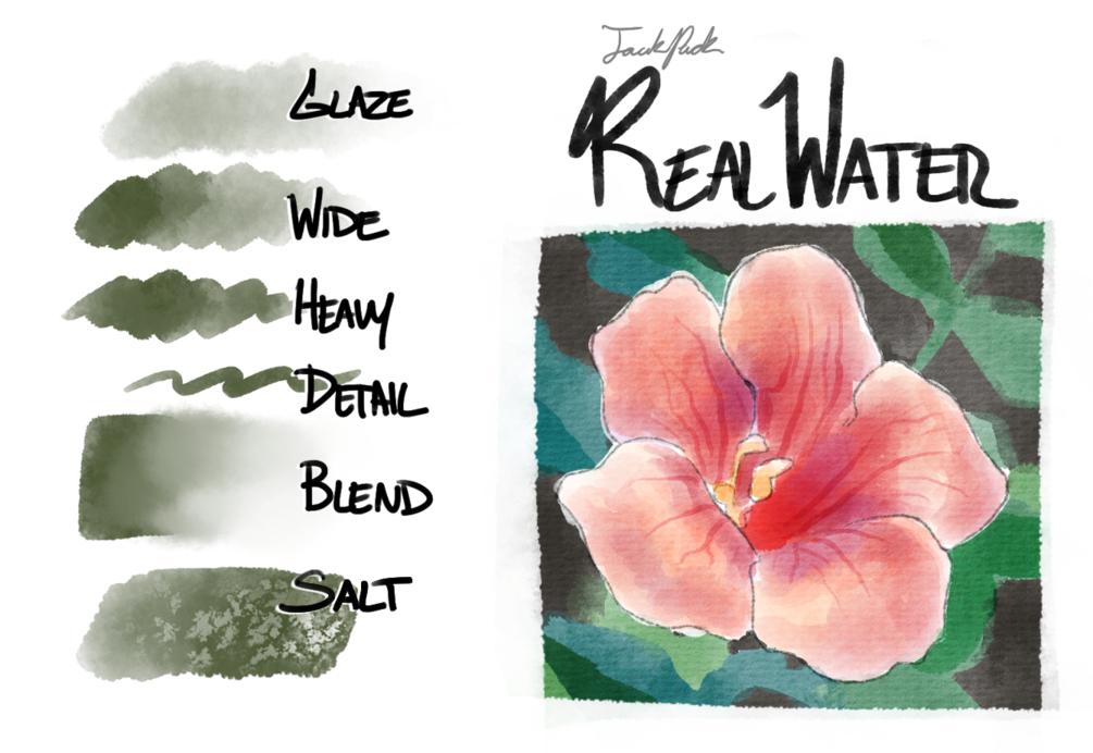 Jackpack Realwater for Krita 4 0 in 2019   Art   Watercolor brushes