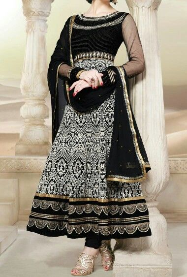 d15cff0189 Gold | Black | White | Indian dress | Desi Style in 2019 | Indian ...