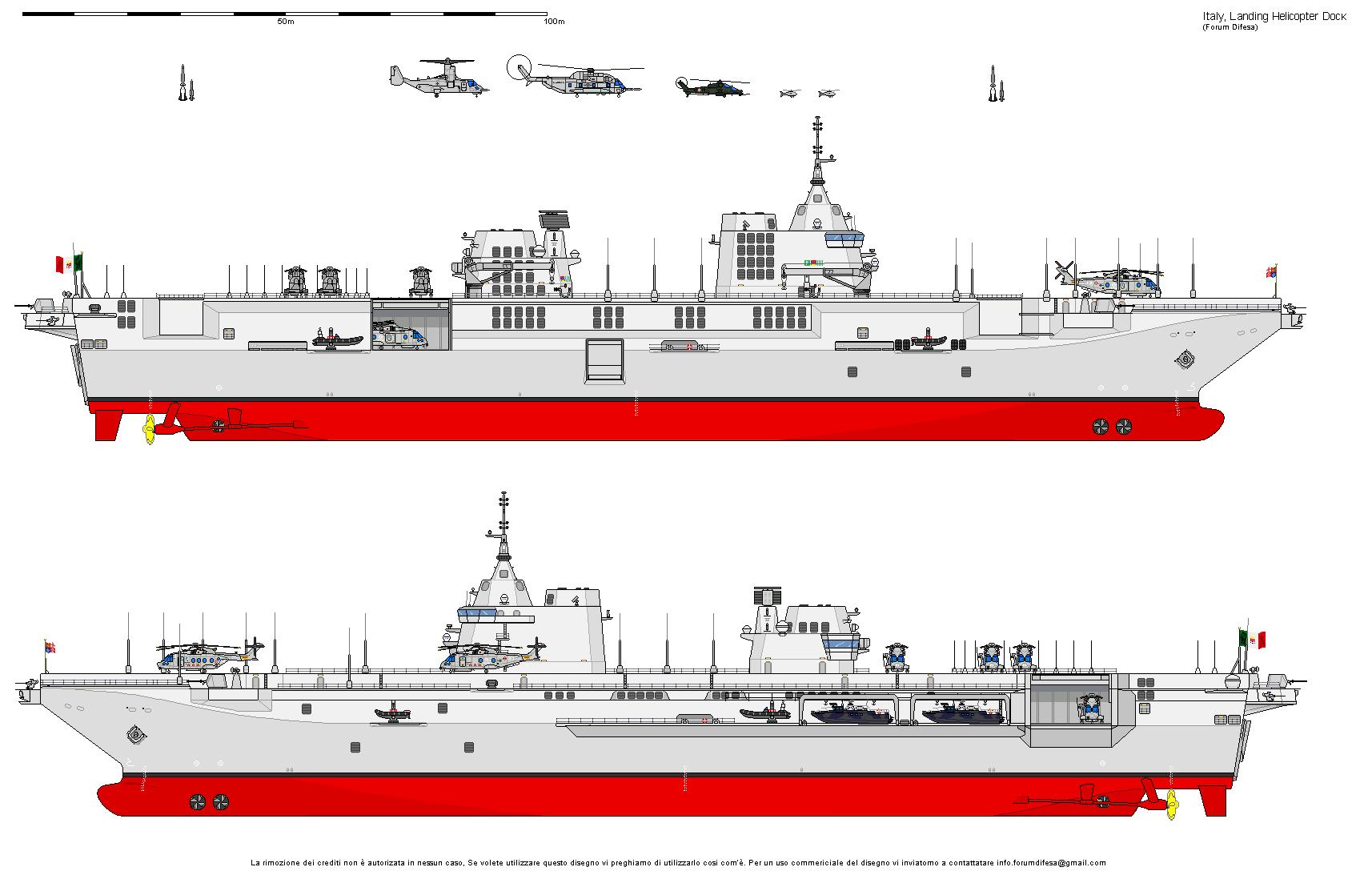 "LHD/LHA classe ""Trieste"" Portaerei, Nave"