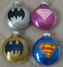 Batman vs Superman Christmas Ornaments