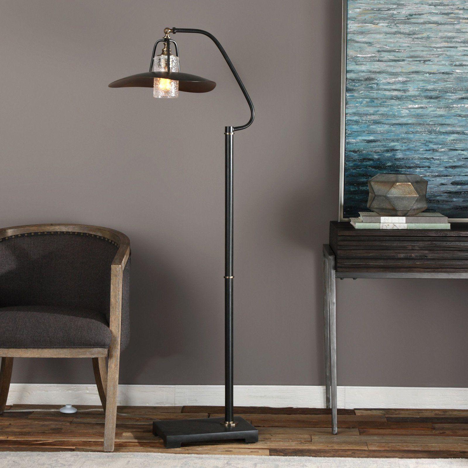 Uttermost Arkutino Black Iron Floor Lamp Iron Floor Lamp Floor Lamp Contemporary Floor Lamps