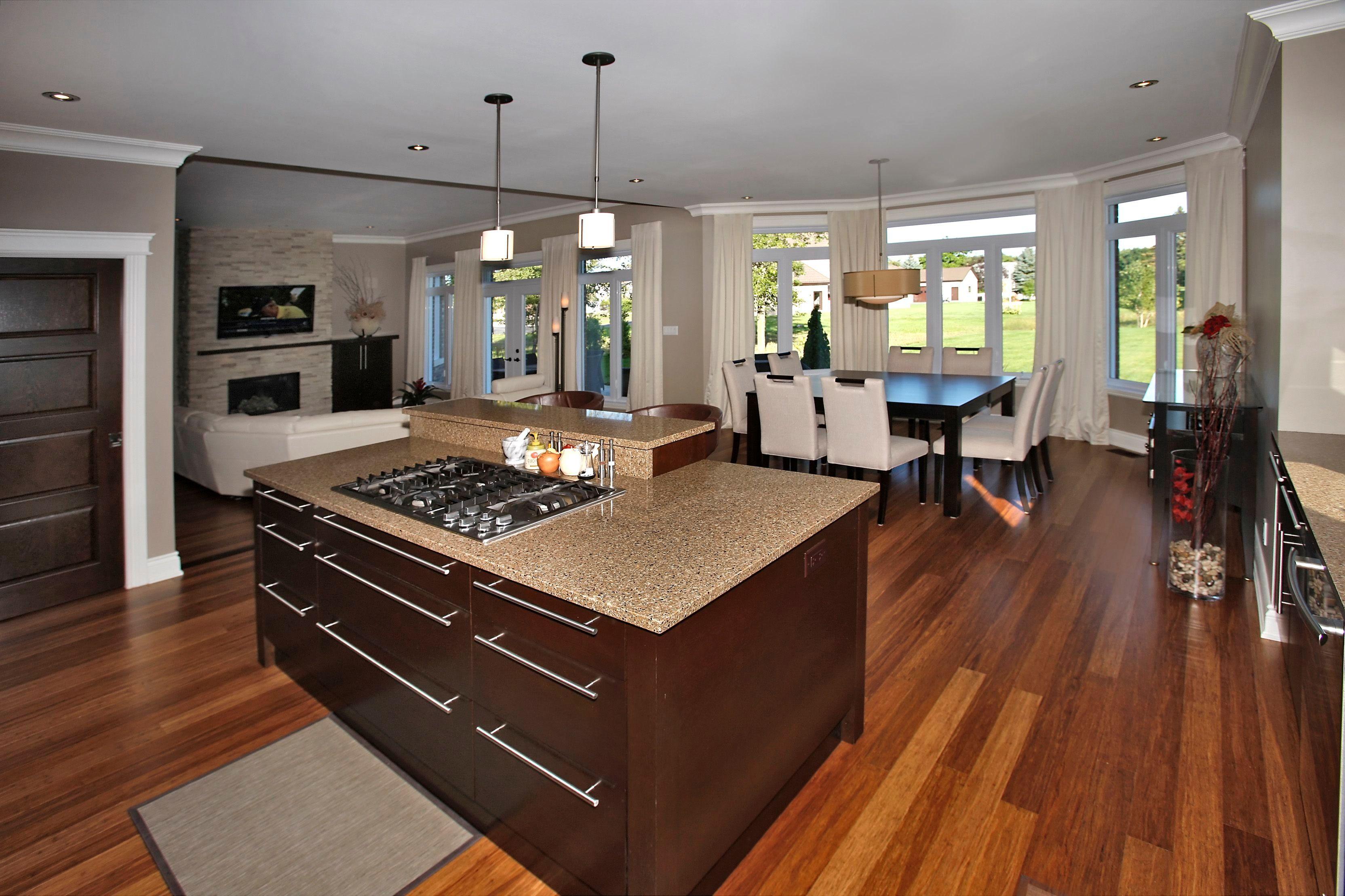 Salon Et Cuisine Aire Ouverte maison altamer - espaces, aire ouverte, grandes fenêtres
