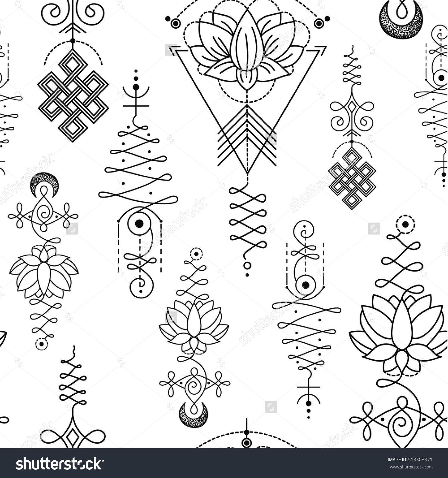 Unalome lotus sacred simbols pattern tattoos pinterest unalome lotus sacred simbols pattern buycottarizona Choice Image