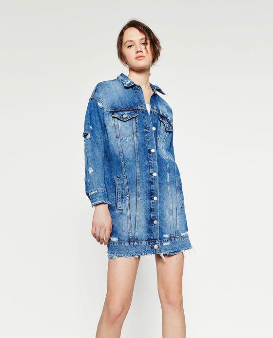 Image 2 of LONG DENIM JACKET from Zara | love denim | Pinterest ...