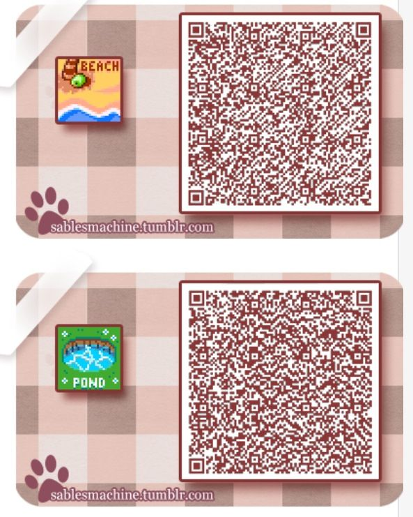 Qr Codes Various Signs Pattern For Beach Or Pond Animal