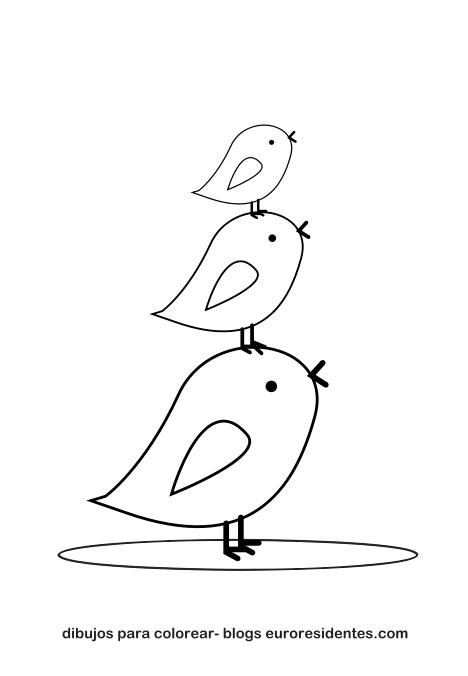 Colorear dibujos de animales Pollitos  Manualidades