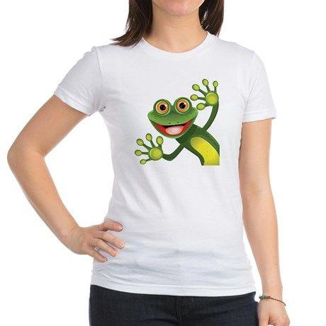 Happy Green Frog T-Shirt on CafePress.com