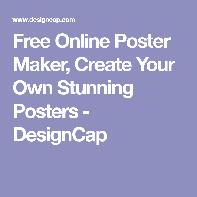 make your own poster free online