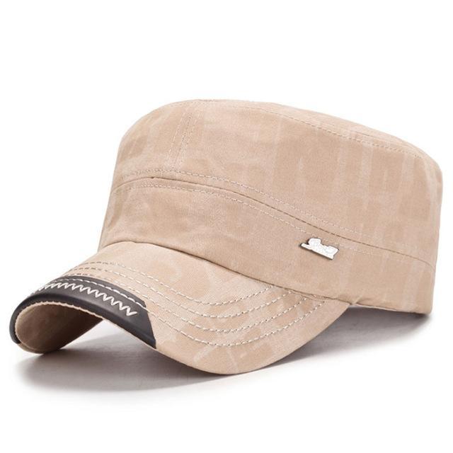 Unisex Cotton Embroidery Stripe Beret Hat Duckbill Golf Flat Buckle Visor  Cabbie Cap For Men Women 20abb7786513