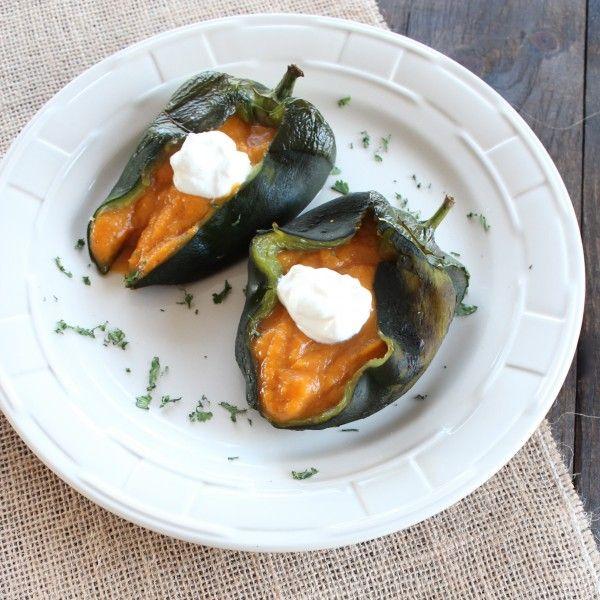Butternut Squash Stuffed Poblano Peppers Recipe