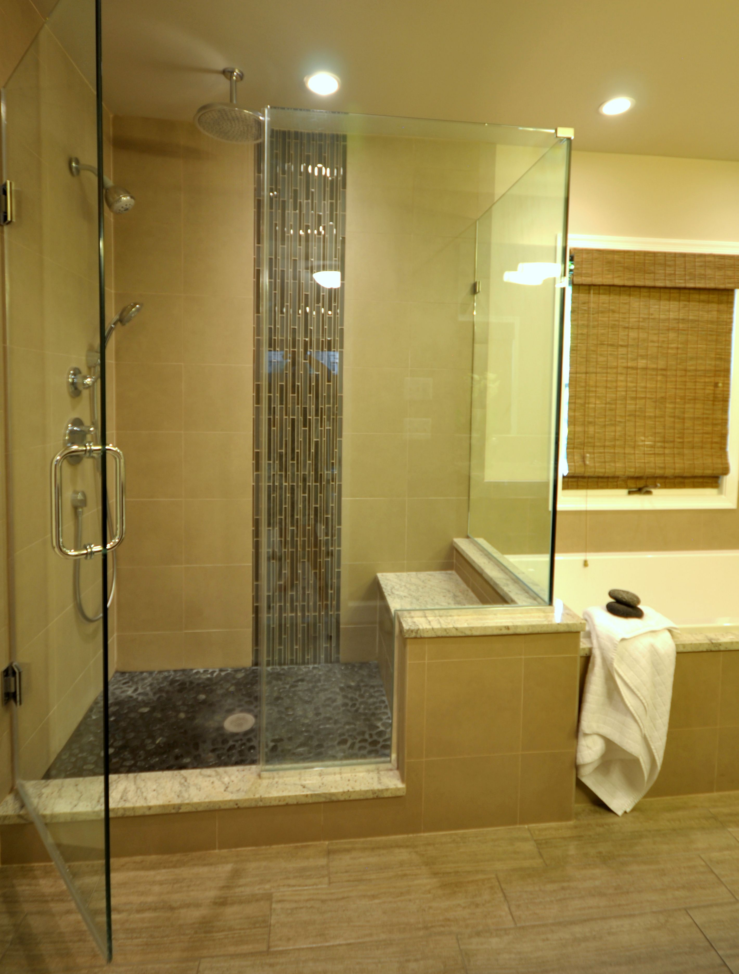 Contemporary master bathroom. New and improved layout. New ...