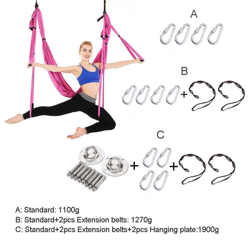 Carpets & Rugs Parachute Fabric Inversion Therapy Anti-gravity Yoga Hammock Hanging Swing Yoga Hammock Swing Parachute Gym Hanging Home & Garden