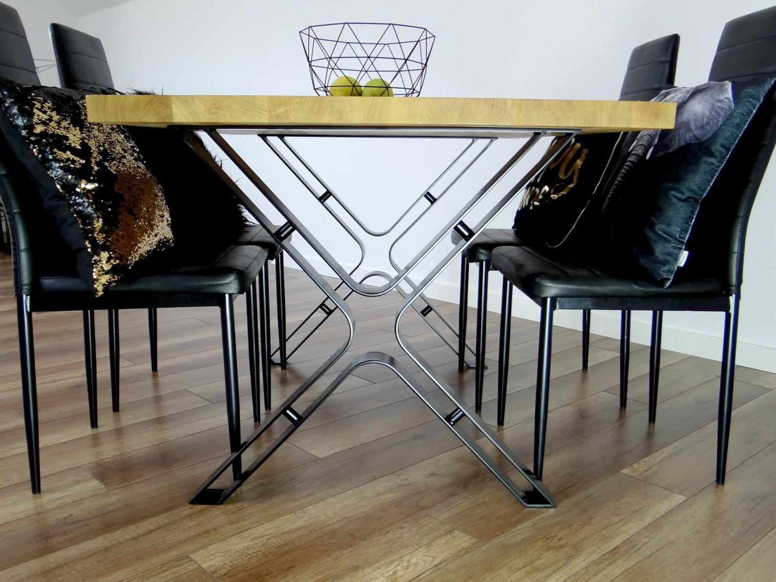 Metal Dining Table Legs Set Of 2 Steel Table Legs Industrial