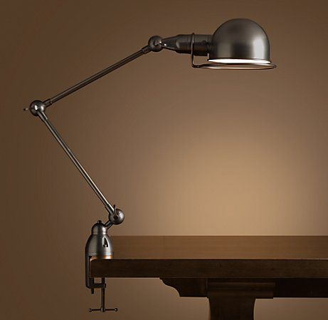 Industrial Connections Clamp Lamp Minimalist Desk Lamp Lamp