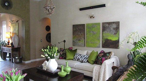 Coloured Interior Design Olive Green Plants Alive Pillow
