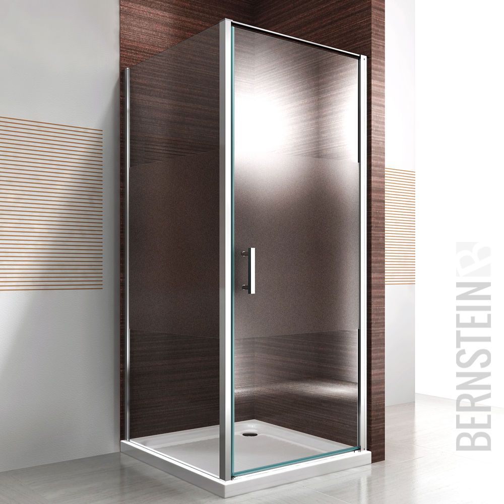 cabine de douche rectangulaire nano esg 195cm verre d polis stripes receveur salle de bain. Black Bedroom Furniture Sets. Home Design Ideas