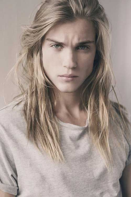 hair Men blonde with long
