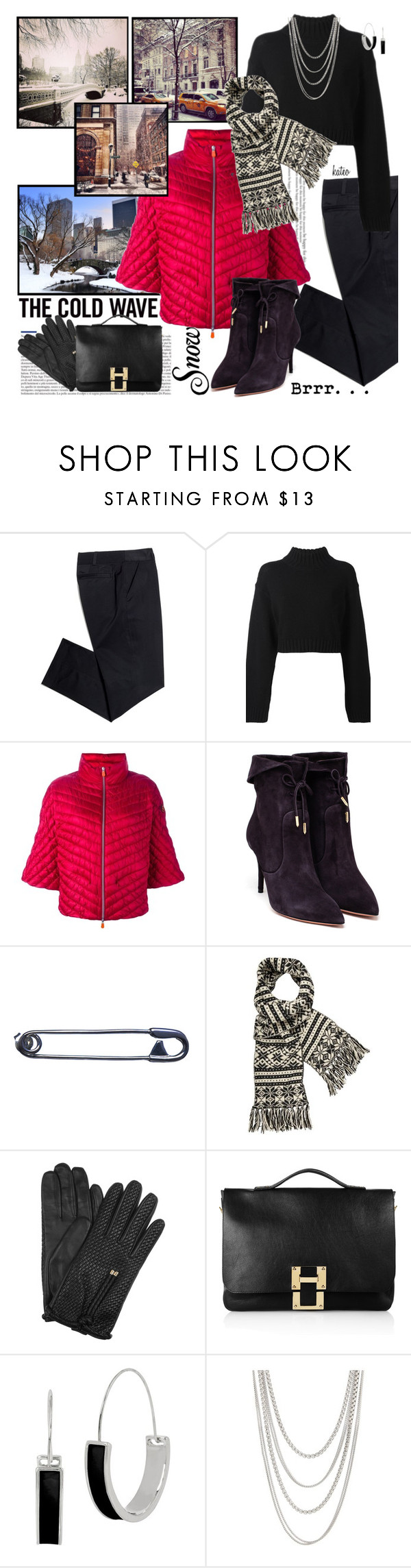 """""""Pretty Winter Puffer"""" by kateo ❤ liked on Polyvore featuring Tory Burch, DKNY, Save the Duck, Aquazzura, Carrie K., Aubin & Wills, Burberry, Sophie Hulme, Kenneth Cole and FOSSIL"""