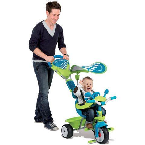 Tricycle baby driver confort Bleu / Vert  - marque : Smoby Le tricycle baby driver confort de Smoby allie modernité, design, maniabilité et confort pour le plus grand plaisir des enfants comme des parents ! Il est évolutif et sadapte au... prix : 109.90 EUR €  chez Auchan Jeux et Jouets #Smoby #AuchanJeuxetJouets