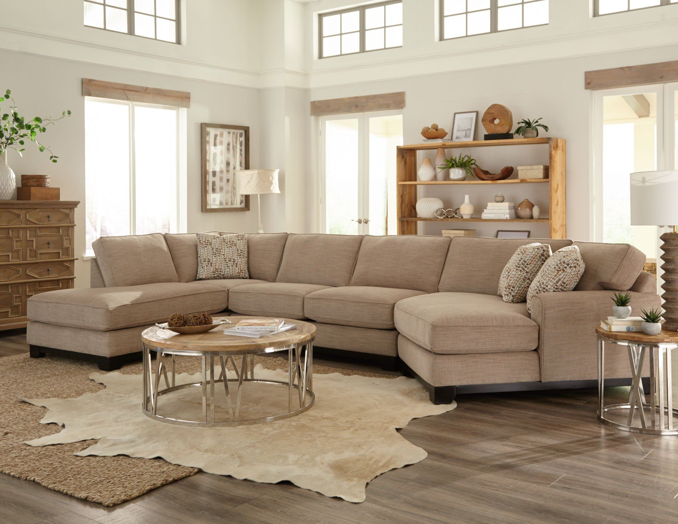 Beige 3 Piece Sectional Sofa With Laf Chaise Pisces 3 Piece