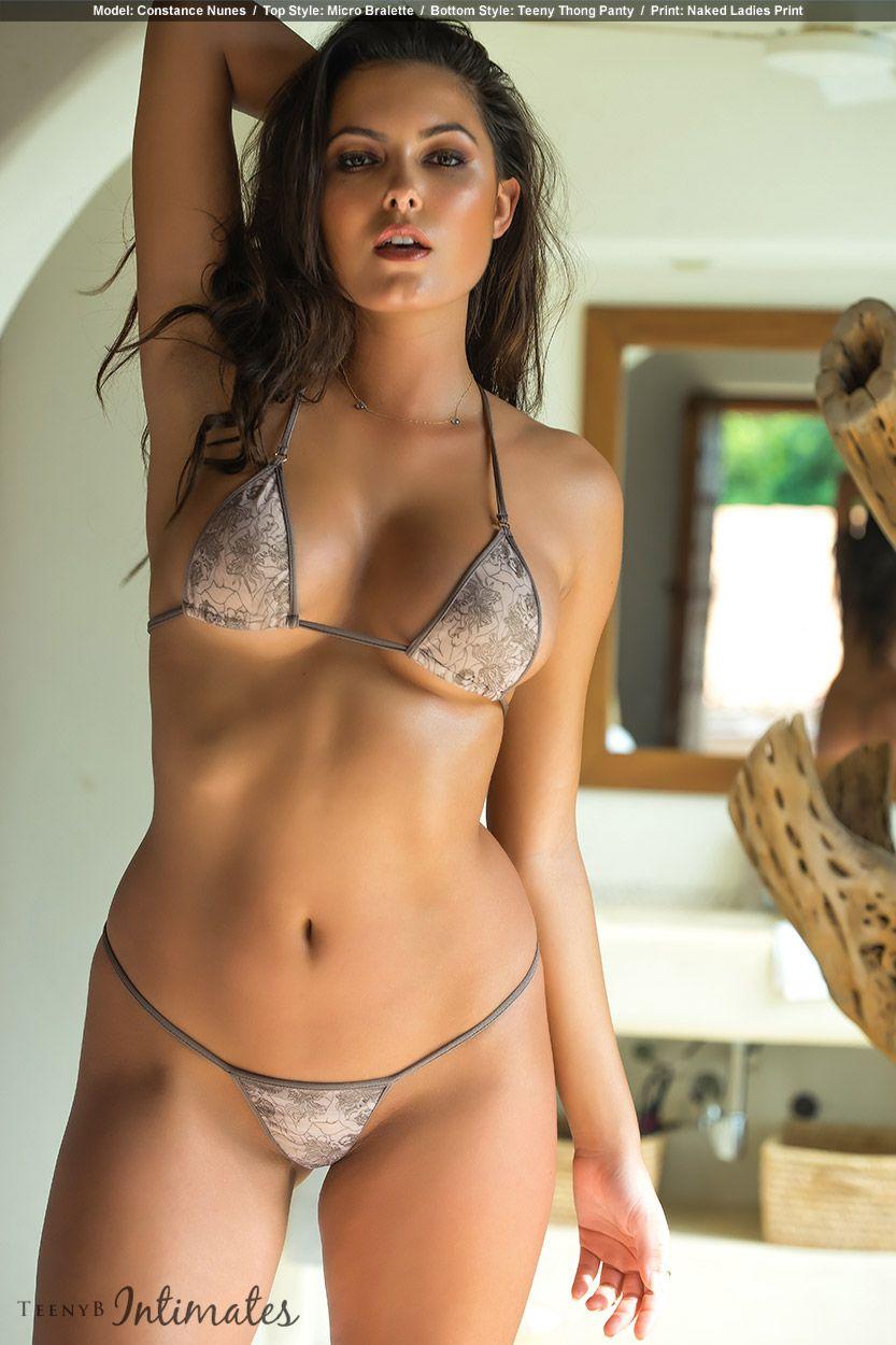 607846f31bb Constance Nunes in nude lingerie