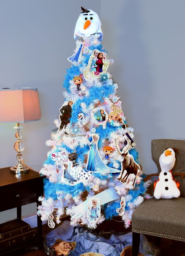 we love this frozen themed christmas tree and we just cant let it - Themed Christmas Trees