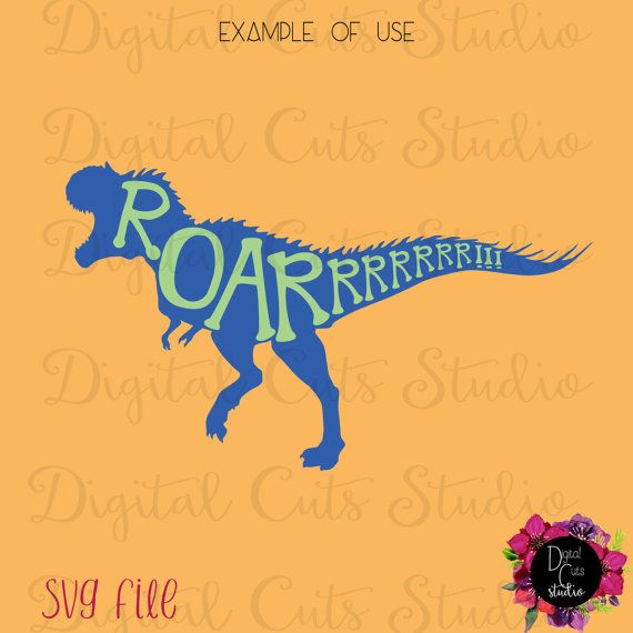 Download T-Rex ROAR SVG cut file is designed for Silhouette Cameo ...