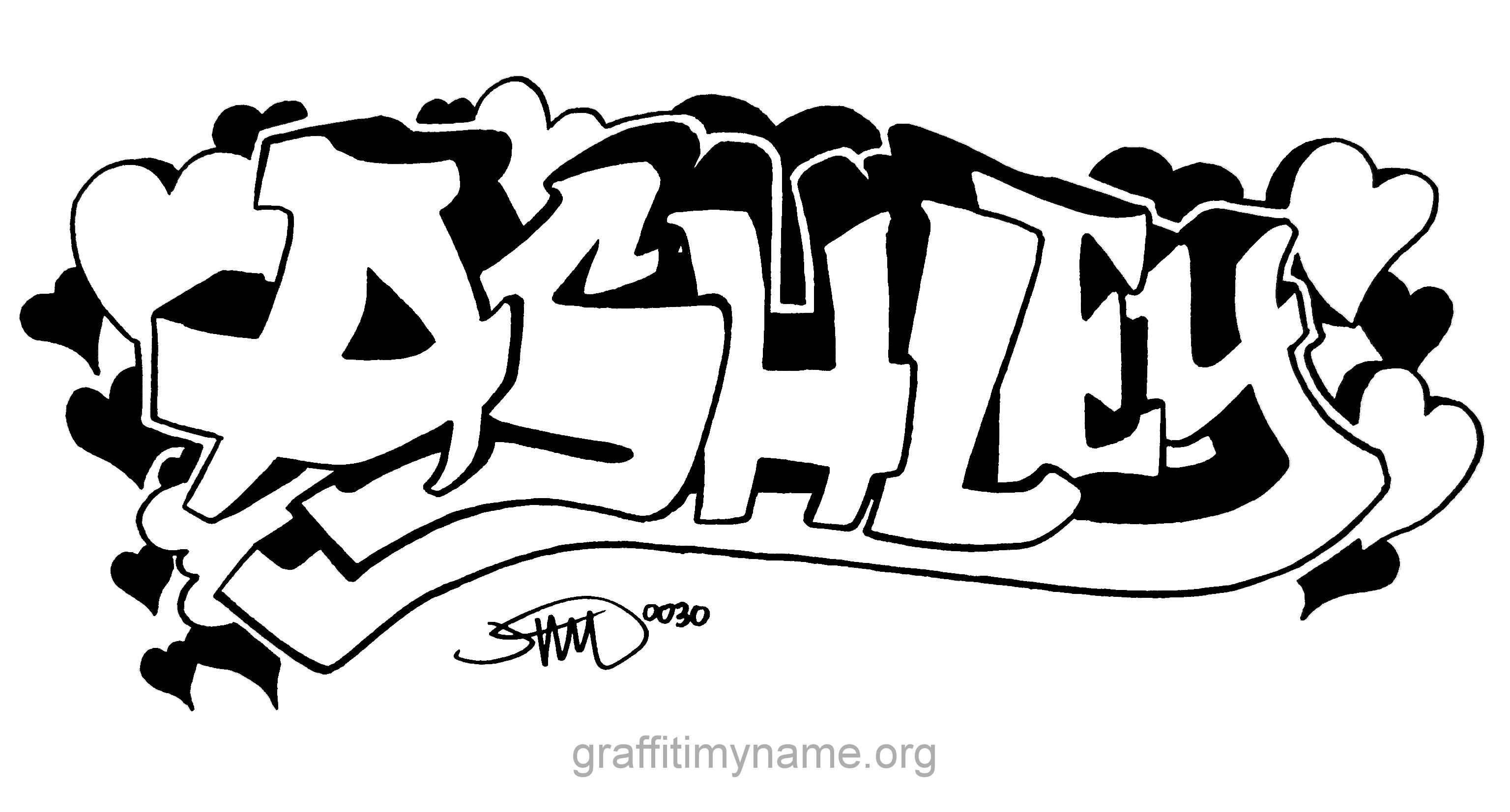"""ashley"" hand drawn graffiti style Ashley name, Name"