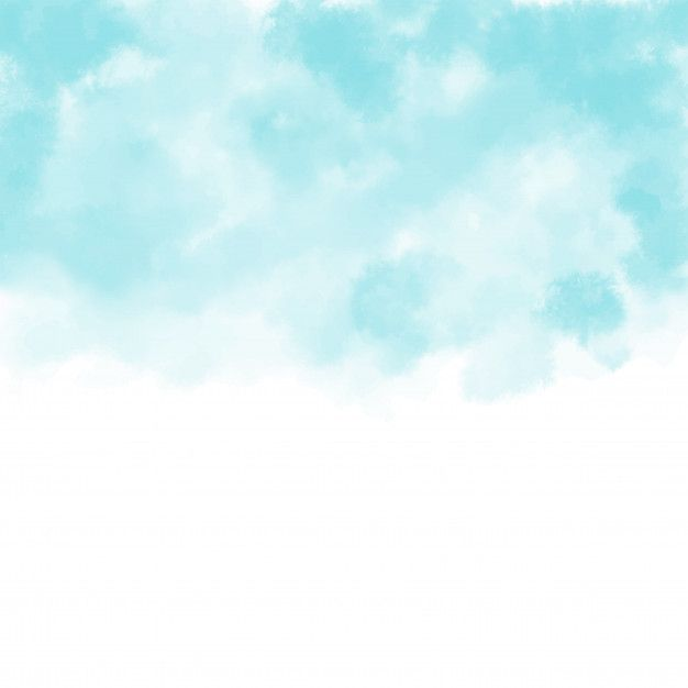 Hand Painted Watercolor Sky And Clouds Abstract Watercolor