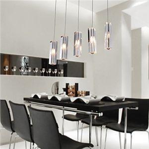 Stainless Steel 5 Light Mini Bar Pendant Light With K9 Crystal Ball Drop Bar Pendant Lights Pendant Light Fixtures Mini Bar