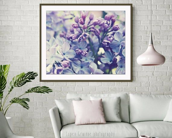 Lilac Flowers Photograph, Botanical Print, Pale Purple Wall Art, Lavender Bedroom Wall Art, Nature Photography Print - Scent of Lilac
