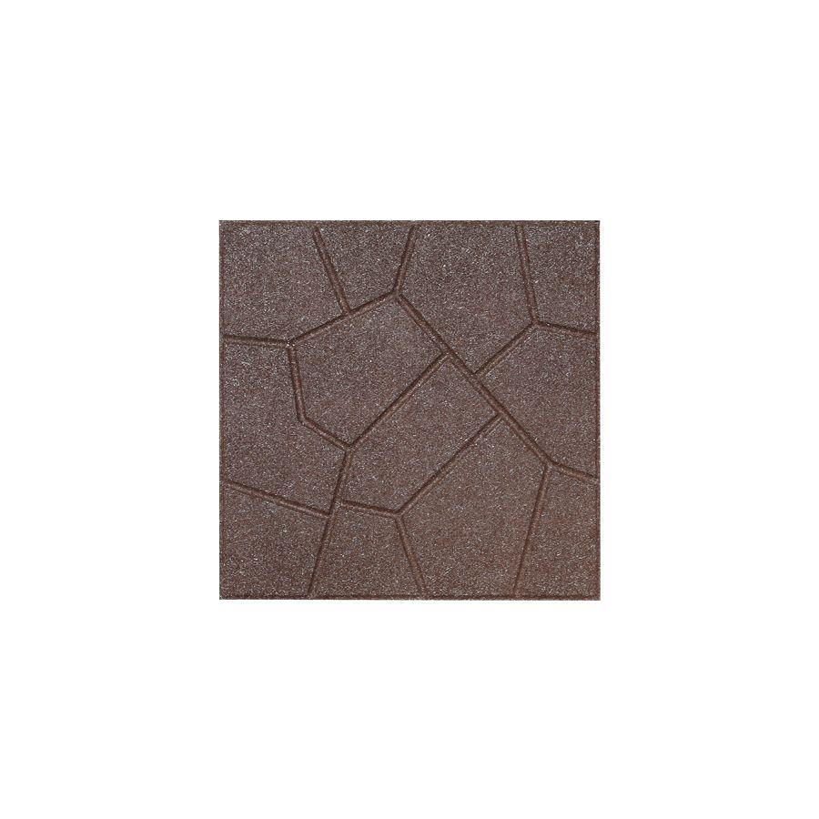 Shop Rubberific Brown Rubber Square Patio Stone Common 16 In X