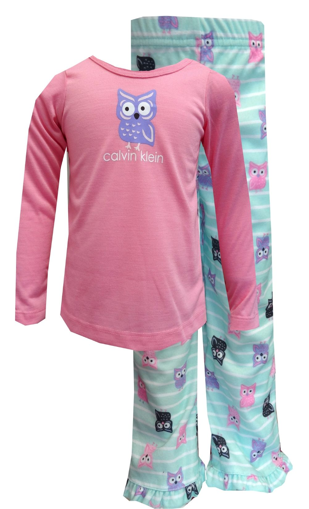 e6b4371ca80e Calvin Klein Pastel Owl Toddler Pajamas What a hoot! These flame ...